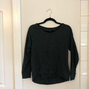 Cynthia Rowley Charcoal Sweatshirt, size Small